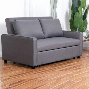 ספה נפתחת למיטה זוגית עם ראש מתכוונן HOME DECOR דגם סמייל 140 + כרית נוי מתנה!