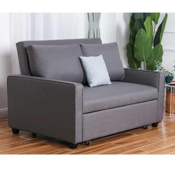 ספה נפתחת למיטה רחבה עם ראש מתכוונן HOME DECOR דגם סמייל 120 + כרית נוי מתנה!