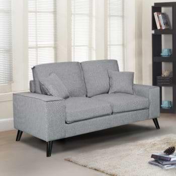 ספה דו מושבית מרופדת בד דגם יסמין