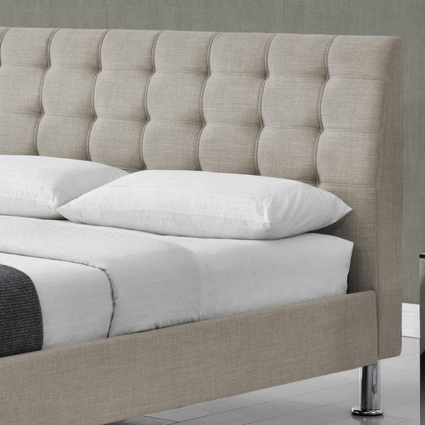 מיטה זוגית מעוצבת 140x200 בריפוד בד דגם דרבי