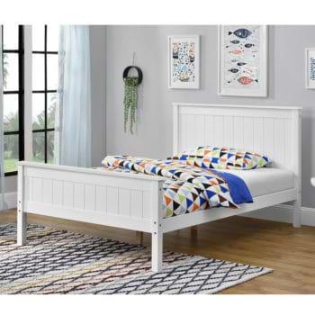 מיטה רחבה לנוער עשויה עץ מלא משולב מסדרת VERY WOOD של דגם דביר 120