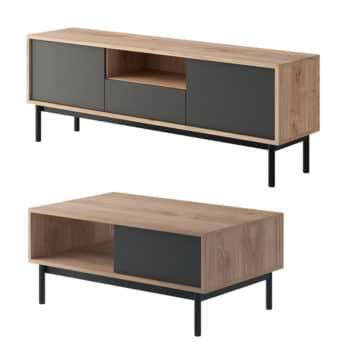 סט מזנון ושולחן מעוצבים בגימור מודרני תוצרת אירופה דגם ספרינג