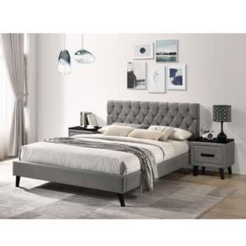 מיטה זוגית מרופדת בד 140×190 עם 2 שידות לילה תואמות דגם טרייסי