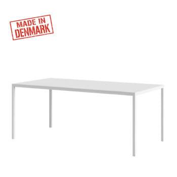 שולחן אוכל סקנדינבי 180 סמ עם רגלי ברזל דגם דורין – לבן
