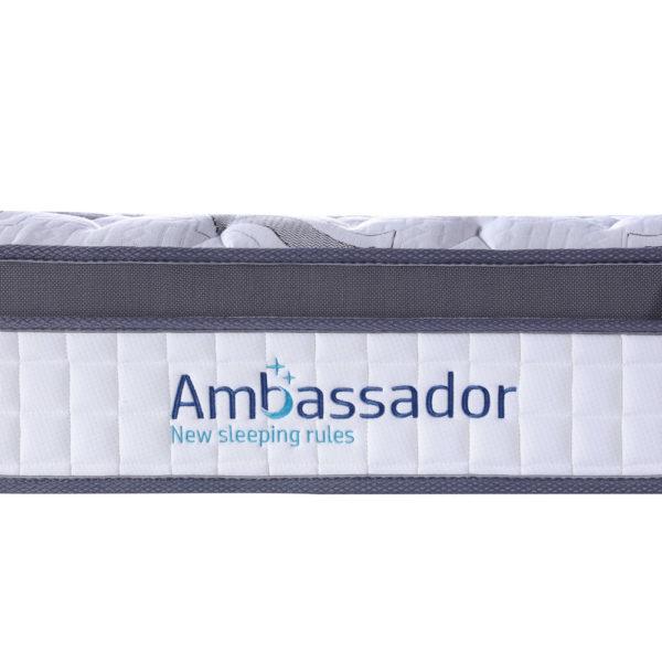 מזרן קפיצים מבודדים למיטת נוער 120x190 עם ריפוד בד אוורירי וקפיצי קצה מחוזקים AMBASSADOR דגם דאנס