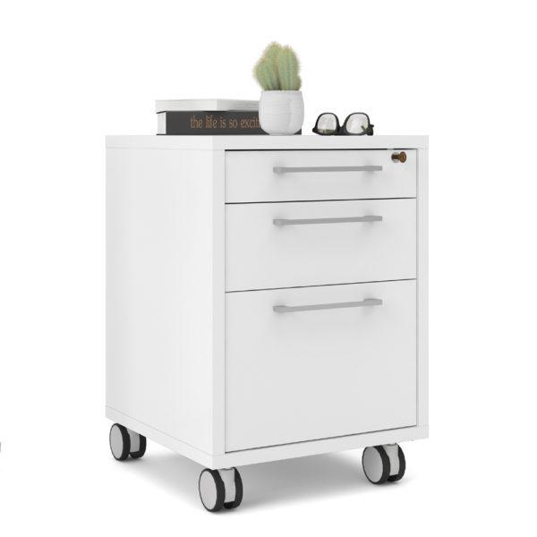 שידת מגירות למשרד עם גלגלים תוצרת דנמרק דגם רובין