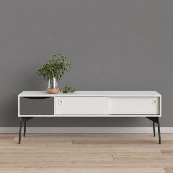 מזנון 1.5 מ' בעיצוב רטרו סקנדינבי תוצרת דנמרק דגם דוריאן-לבן