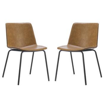 זוג כסאות לפינת אוכל עם רגלי מתכת דגם אבירם – משלוח חינם!