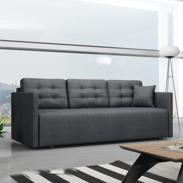 ספה אירופאית מעוצבת נפתחת למיטה זוגית עם ארגז מצעים דגם לוקה