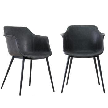 זוג כורסאות מעצבים עם ידיות כנפיים ורגלי ברזל דגם אופיר
