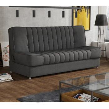 ספה אירופאית מעוצבת נפתחת למיטה עם ארגז מצעים דגם פסקל