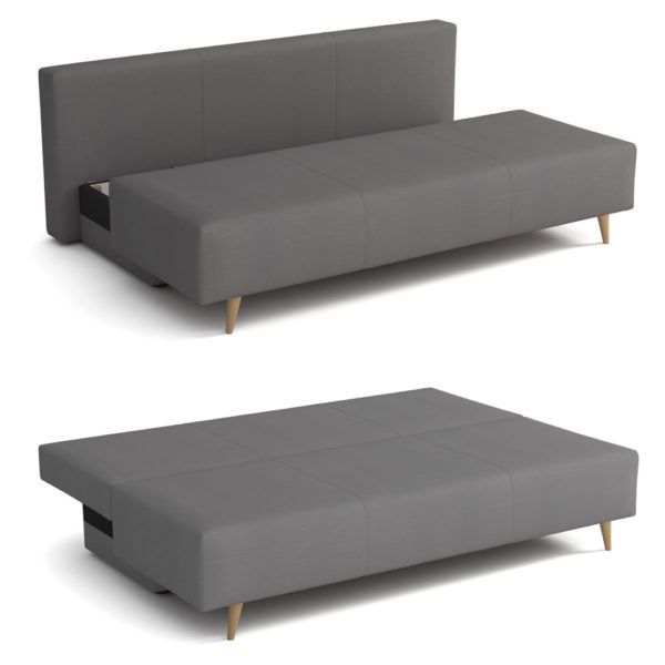 ספה אירופאית מעוצבת נפתחת למיטה זוגית עם ארגז מצעים דגם סידני
