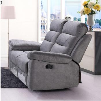 ספה דו מושבית מרופדת בד רחיץ עם 2 הדומים נשלפים דגם ולנסיה