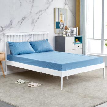 מיטת זוגית מברזל בגוון לבן למזרן 140×190 דגם סנדי 140