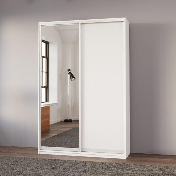 """ארון בגדים 150 ס""""מ עם דלת מראה תוצרת אירופה דגם אסף"""