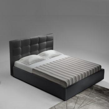 מיטה זוגית יוקרתית 160×200 בריפוד בד קטיפתי עם ארגז מצעים דגם ברוקלין 160
