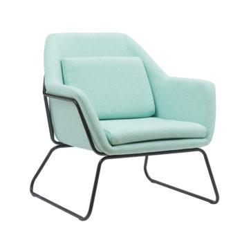 כורסא מעוצבת עם רגלי ברזל דגם ברייטון – ירוק