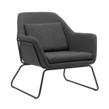 כורסא מעוצבת עם רגלי ברזל דגם ברייטון – אפור