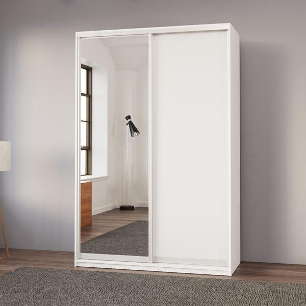 """ארון בגדים 150 ס""""מ עם דלת מראה ומגירות תוצרת אירופה דגם רוני"""
