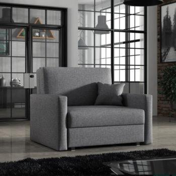 כורסא אירופאית נפתחת למיטה עם ארגז מצעים דגם אורון
