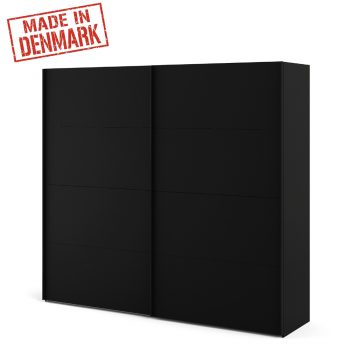 """ארון הזזה 240 ס""""מ 2 דלתות בגוון שחור תוצרת דנמרק HOME DECOR דגם מריבו"""